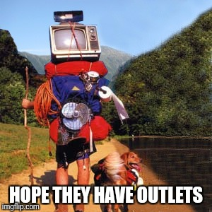 HOPE THEY HAVE OUTLETS | made w/ Imgflip meme maker