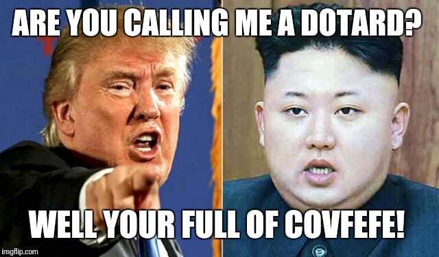 ARE YOU CALLING ME A DOTARD? WELL YOUR FULL OF COVFEFE! | image tagged in dotardfefe | made w/ Imgflip meme maker