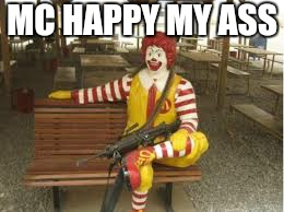 MC HAPPY MY ASS | made w/ Imgflip meme maker