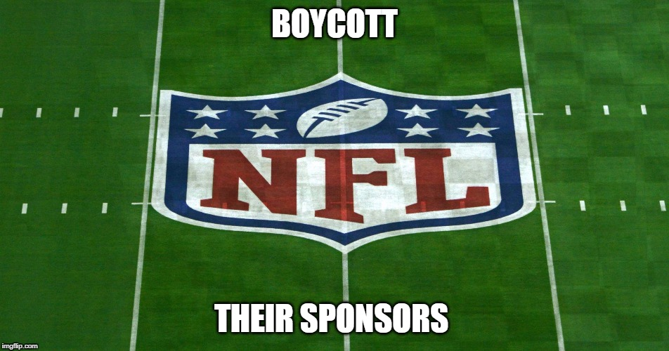 BOYCOTT THEIR SPONSORS | image tagged in 100 | made w/ Imgflip meme maker
