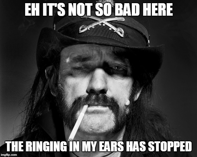 EH IT'S NOT SO BAD HERE THE RINGING IN MY EARS HAS STOPPED | made w/ Imgflip meme maker