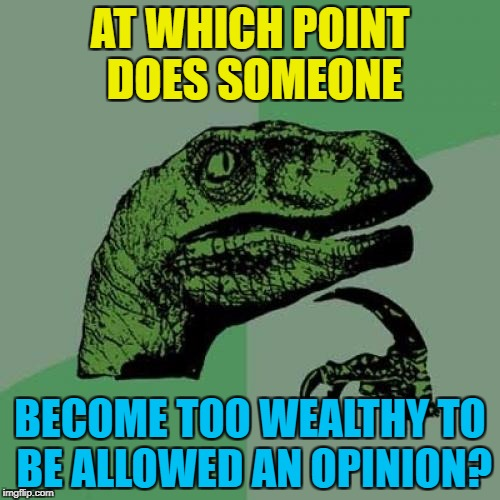 "Hearing about ""millionaire footballers""... 