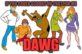 IF YOU COULD SCOOBY DO THAT FOR ME DAWG | made w/ Imgflip meme maker