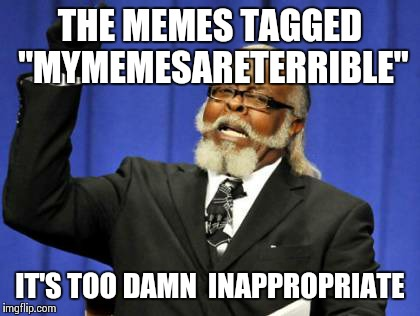 "My thoughts about MyMemesAreTerrible | THE MEMES TAGGED ""MYMEMESARETERRIBLE"" IT'S TOO DAMN  INAPPROPRIATE 