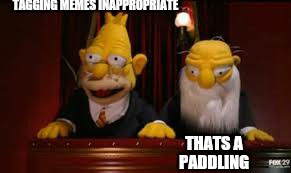 indicate  | TAGGING MEMES INAPPROPRIATE THATS A PADDLING | image tagged in indicate | made w/ Imgflip meme maker