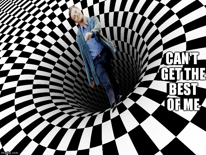 Just walk it off... | CAN'T GET THE BEST OF ME CAN'T GET THE BEST OF ME | image tagged in leonardo dicaprio,optical illusion | made w/ Imgflip meme maker