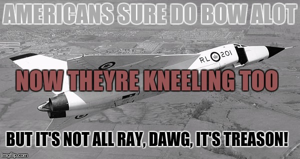 AMERICANS SURE DO BOW ALOT NOW THEYRE KNEELING TOO BUT IT'S NOT ALL RAY, DAWG, IT'S TREASON! | made w/ Imgflip meme maker