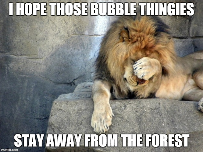 I HOPE THOSE BUBBLE THINGIES STAY AWAY FROM THE FOREST | made w/ Imgflip meme maker