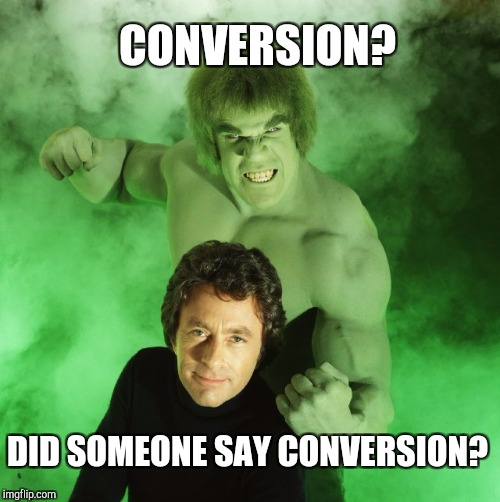 Memes | CONVERSION? DID SOMEONE SAY CONVERSION? | image tagged in memes | made w/ Imgflip meme maker