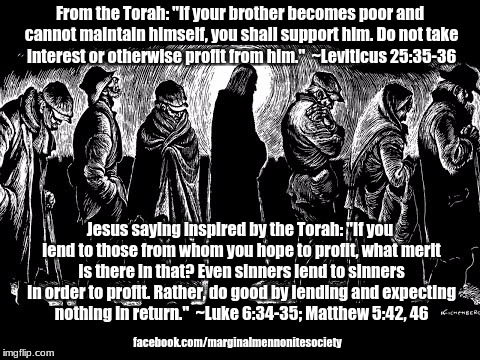 "Jesus: ""Lend, expecting nothing in return"" 