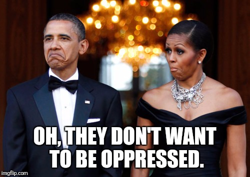 OH, THEY DON'T WANT TO BE OPPRESSED. | image tagged in they made | made w/ Imgflip meme maker