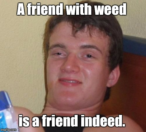 10 Guy Meme | A friend with weed is a friend indeed. | image tagged in memes,10 guy | made w/ Imgflip meme maker