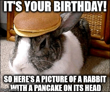 Happy Birthday Pancake Bunny