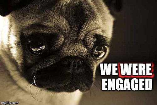 WERE WE WERE ENGAGED | made w/ Imgflip meme maker