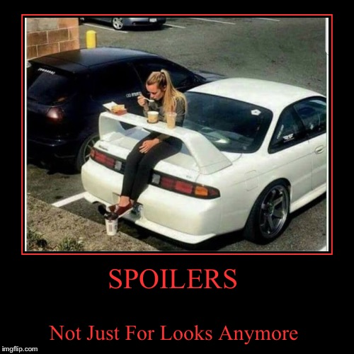 An aerodynamic lunch room...  | SPOILERS | Not Just For Looks Anymore | image tagged in funny,demotivationals,lol,lynch1979 | made w/ Imgflip demotivational maker