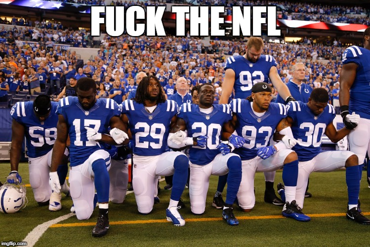 nfl protests | F**K THE NFL | image tagged in nfl,protests | made w/ Imgflip meme maker