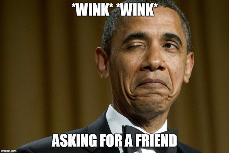 *WINK* *WINK* ASKING FOR A FRIEND | made w/ Imgflip meme maker