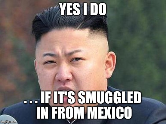 YES I DO . . . IF IT'S SMUGGLED IN FROM MEXICO | made w/ Imgflip meme maker