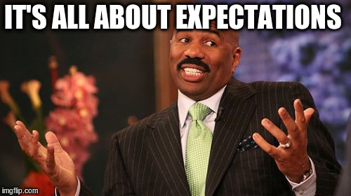 Steve Harvey Meme | IT'S ALL ABOUT EXPECTATIONS | image tagged in memes,steve harvey | made w/ Imgflip meme maker