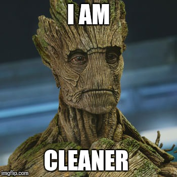 I am Groot | I AM CLEANER | image tagged in i am groot | made w/ Imgflip meme maker