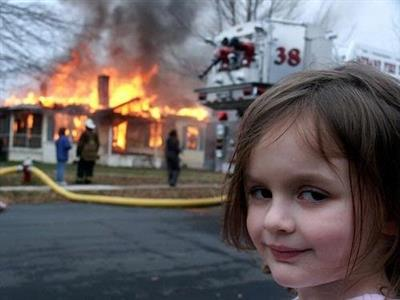 Evil Girl House On Fire Blank Template Imgflip