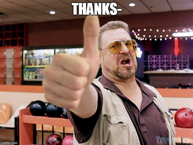 THANKS- | made w/ Imgflip meme maker