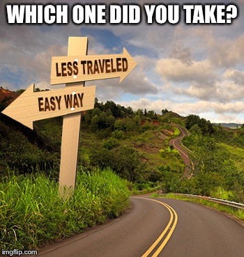 WHICH ONE DID YOU TAKE? | image tagged in road | made w/ Imgflip meme maker