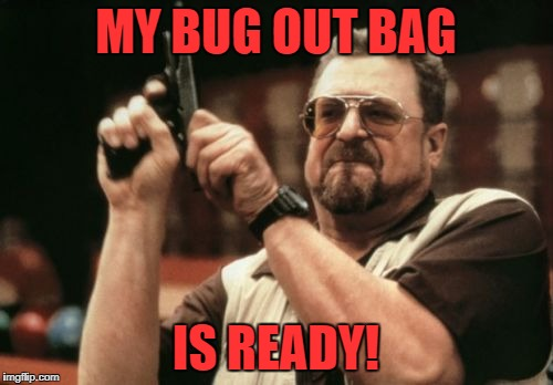 Am I The Only One Around Here Meme | MY BUG OUT BAG IS READY! | image tagged in memes,am i the only one around here | made w/ Imgflip meme maker