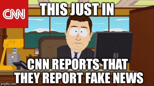 Aaaaand Its Gone Meme | THIS JUST IN CNN REPORTS THAT THEY REPORT FAKE NEWS | image tagged in memes,aaaaand its gone | made w/ Imgflip meme maker