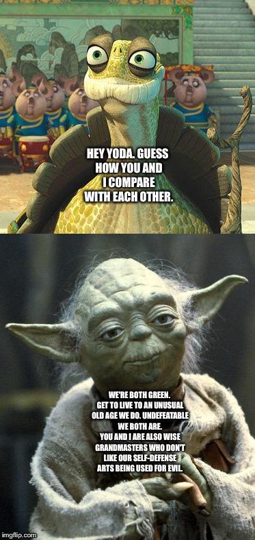 Yoda Meme Master Oogway and Mast...