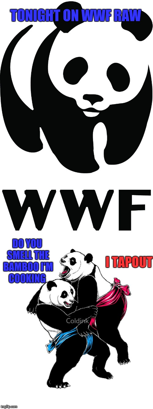 DO YOU SMELL THE BAMBOO I'M COOKING TONIGHT ON WWF RAW I TAPOUT | image tagged in wwf,wwe,panda,kung fu panda,memes,tapout | made w/ Imgflip meme maker