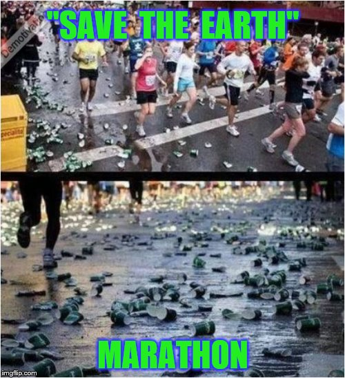 """SAVE  THE  EARTH"" MARATHON 