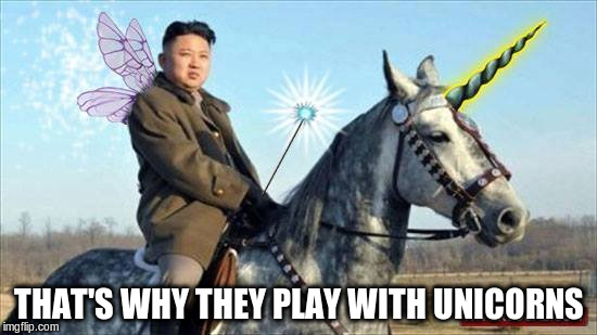 THAT'S WHY THEY PLAY WITH UNICORNS | made w/ Imgflip meme maker