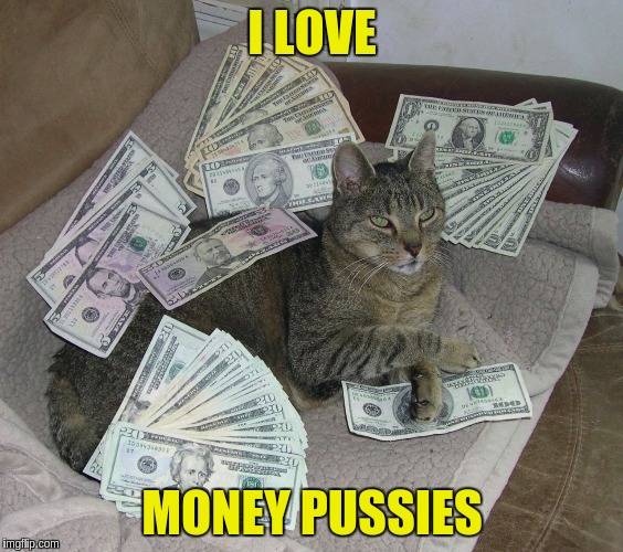 I LOVE MONEY PUSSIES | made w/ Imgflip meme maker