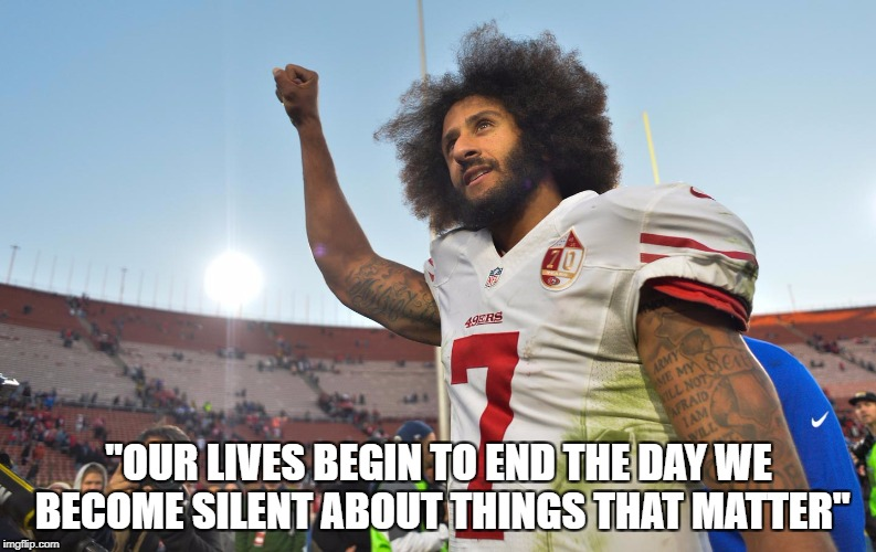 "Amen | ""OUR LIVES BEGIN TO END THE DAY WE BECOME SILENT ABOUT THINGS THAT MATTER"" 