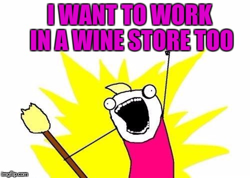 X All The Y Meme | I WANT TO WORK IN A WINE STORE TOO | image tagged in memes,x all the y | made w/ Imgflip meme maker