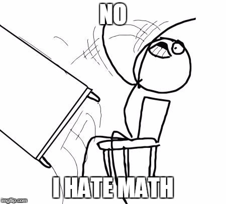 Table Flip Guy Meme | NO I HATE MATH | image tagged in memes,table flip guy | made w/ Imgflip meme maker