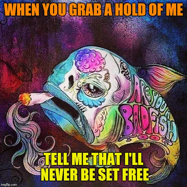 WHEN YOU GRAB A HOLD OF ME TELL ME THAT I'LL NEVER BE SET FREE | made w/ Imgflip meme maker