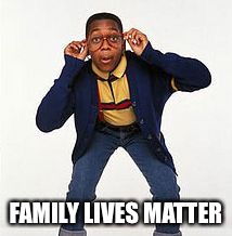 family matters | FAMILY LIVES MATTER | image tagged in family matters | made w/ Imgflip meme maker