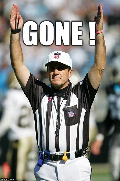 TOUCHDOWN! | GONE ! | image tagged in touchdown | made w/ Imgflip meme maker