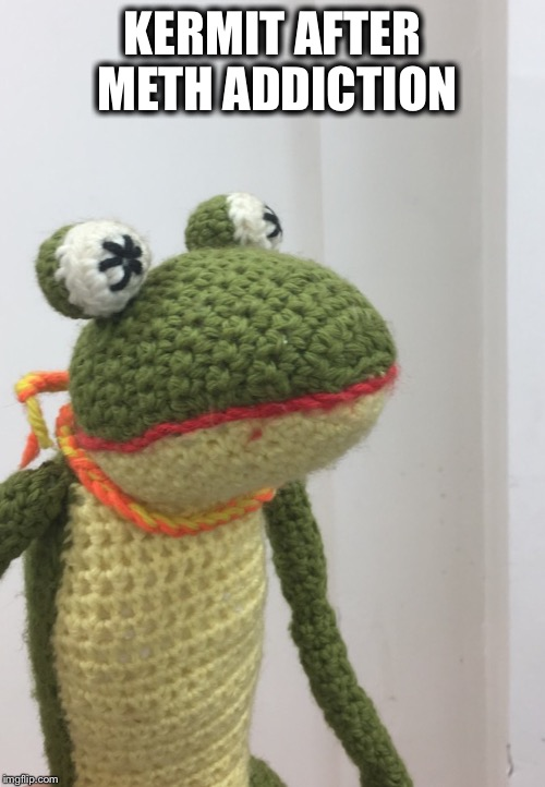 KERMIT AFTER METH ADDICTION | image tagged in kermitmeth | made w/ Imgflip meme maker