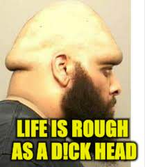 LIFE IS ROUGH AS A D!CK HEAD | made w/ Imgflip meme maker