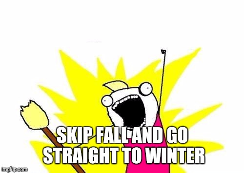 X All The Y Meme | SKIP FALL AND GO STRAIGHT TO WINTER | image tagged in memes,x all the y | made w/ Imgflip meme maker