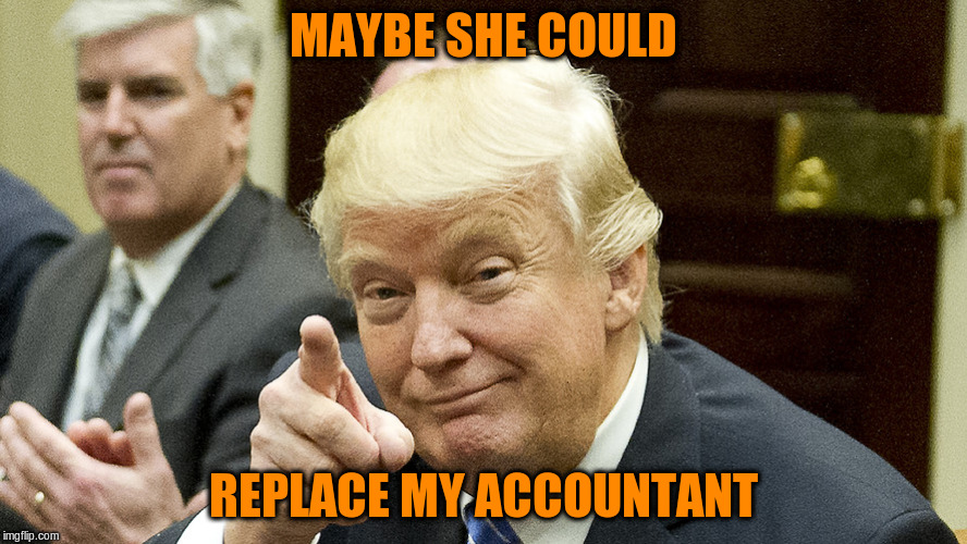 MAYBE SHE COULD REPLACE MY ACCOUNTANT | made w/ Imgflip meme maker
