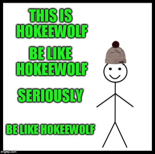 Be Like Bill Meme | THIS IS HOKEEWOLF BE LIKE HOKEEWOLF SERIOUSLY BE LIKE HOKEEWOLF | image tagged in memes,be like bill | made w/ Imgflip meme maker