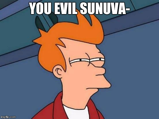 Futurama Fry Meme | YOU EVIL SUNUVA- | image tagged in memes,futurama fry | made w/ Imgflip meme maker