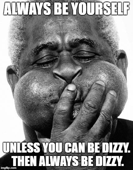 Unless you can be dizzy | ALWAYS BE YOURSELF UNLESS YOU CAN BE DIZZY. THEN ALWAYS BE DIZZY. | image tagged in always,yourself | made w/ Imgflip meme maker