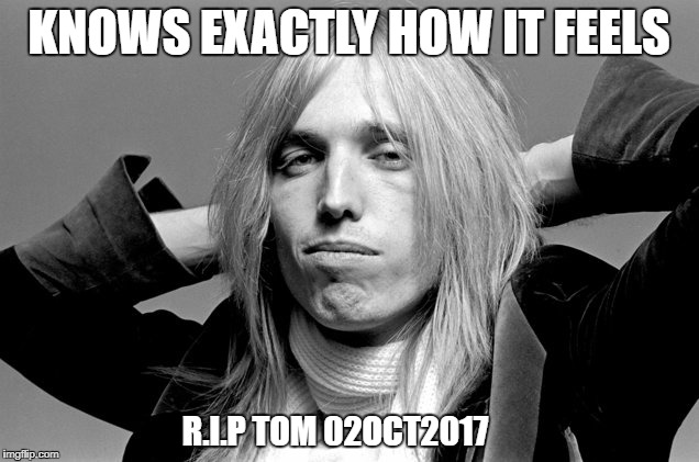 You don't know how it feels | KNOWS EXACTLY HOW IT FEELS R.I.P TOM 02OCT2017 | image tagged in tom petty,death,humor,rip,funny,meme | made w/ Imgflip meme maker