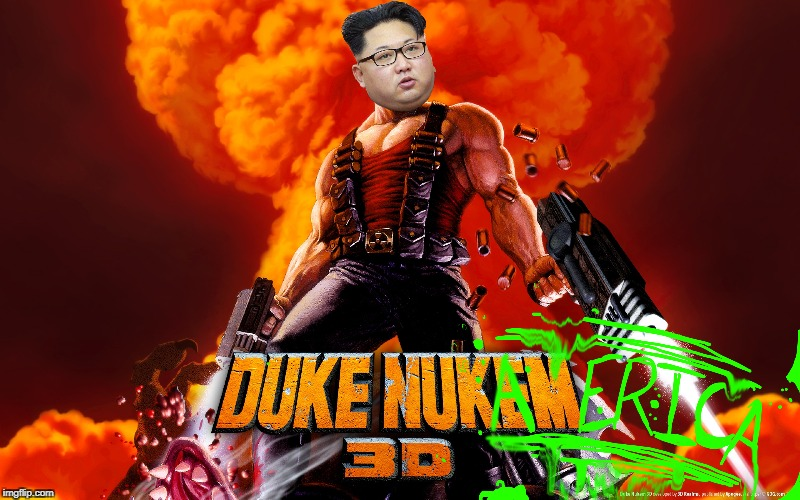 My First Crappy Photoshop. Controversy May Be Caused. | image tagged in kim jong un,photoshop,meme,nuke | made w/ Imgflip meme maker
