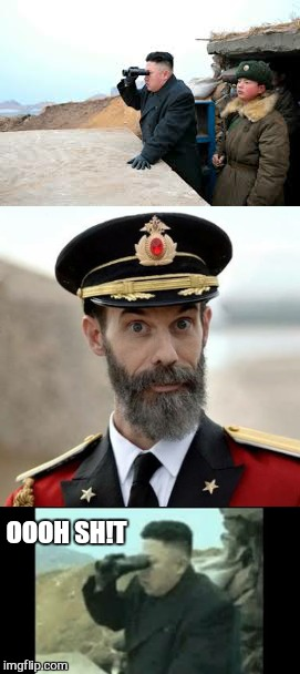 OOOH SH!T | image tagged in memes,north korea,captain obvious | made w/ Imgflip meme maker